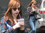 *EXCLUSIVE* West Hollywood, CA - Emma Roberts keep her eyes glued to her cell phone while out and about in a plaid button up, black top, blue jeans, and flats. Emma does stop for a second to sip on her iced coffee.\n  \nAKM-GSI        May 6, 2016\nTo License These Photos, Please Contact :\nSteve Ginsburg\n(310) 505-8447\n(323) 423-9397\nsteve@akmgsi.com\nsales@akmgsi.com\nor\nMaria Buda\n(917) 242-1505\nmbuda@akmgsi.com\nginsburgspalyinc@gmail.com