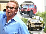 Beverly Hills, CA - Former Governor of California and actor, Arnold Schwarzenegger climbs into his military Hummer after lunch with friends at Caffe Roma in Beverly Hills. The Mobile Strike spokesman sucked on a cigar while signing for a fan before climbing into his gas guzzler and going about his day.\n \n AKM-GSI   May  6, 2016\nTo License These Photos, Please Contact :\nSteve Ginsburg\n(310) 505-8447\n(323) 423-9397\nsteve@akmgsi.com\nsales@akmgsi.com\nor\nMaria Buda\n(917) 242-1505\nmbuda@akmgsi.com\nginsburgspalyinc@gmail.com
