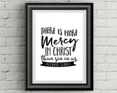 Printable Mercy Quote - Richard Sibbes