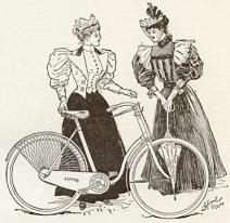 1899  Two ladies and a bicycle
