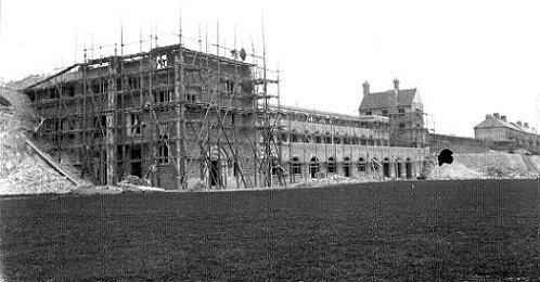 Dover Grammar School for Boys, Astor Avenue, during building