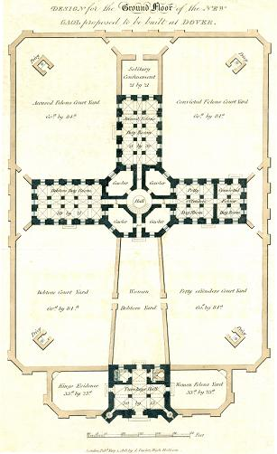 Dover Goal – Plan dated 1818 for a new Goal in Dover