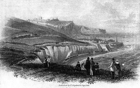 Dover's First Train - engraving