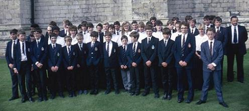 Dover Grammar School Choir visit York 1986