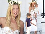 """Beverly Hills, CA - Ali Larter feels like the best mom ever at Au Fudge for Mother's Day. Ali spent the day at the restaurant with her two children, Tedd and Vivienne, of which Tedd made a poster which reads """"Best Mom Ever.""""\n  \nAKM-GSI         May 8, 2016\nTo License These Photos, Please Contact :\nSteve Ginsburg\n(310) 505-8447\n(323) 423-9397\nsteve@akmgsi.com\nsales@akmgsi.com\nor\nMaria Buda\n(917) 242-1505\nmbuda@akmgsi.com\nginsburgspalyinc@gmail.com"""