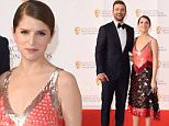 Mandatory Credit: Photo by David Fisher/REX/Shutterstock (5674359dq)\nJustin Timberlake and Anna Kendrick\nHouse of Fraser British Academy Television Awards, Arrivals, Royal Festival Hall, London, Britain - 08 May 2016\n