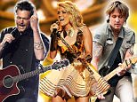 CMT Nominations Carrie underwood Blake shelton Keith urban