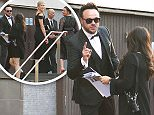 ANT MCPARTLIN SEEN GETTING STOPPED BY SECURITY AS HE WAS SEEN WALKING UP THE STAIRS TO THE ROYAL FESTIVAL HALL FOR THE BRITISH BAFTA AWARDS. ANT WAS HELD WITH WIFE AND DECS PARTNER  BY WOMEN WITH A CLIP BOARD CHECKING HER LIST. AFTER SEVERAL MINUTES THEY WHERE ALLOWED TO MAKE THERE WAY TO THE VENUE WITH ANTHONY NOT LOOKING HAPPY. SUNDAY 8TH MAY 2016 - MAGICMOMENTSUK - 07753 30 30 77