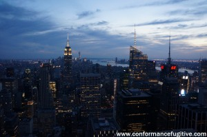 Night view - Empire State from Top of the Rock