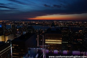 Night View - Hudson River from Top of the Rock