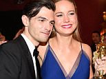 HOLLYWOOD, CA - FEBRUARY 28:  Musician Alex Greenwald (L) and actress Brie Larson, winner of Best Actress for 'Room,' attend the 88th Annual Academy Awards Governors Ball at Hollywood & Highland Center on February 28, 2016 in Hollywood, California.  (Photo by Kevork Djansezian/Getty Images)