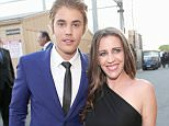 LOS ANGELES, CA - MARCH 14:  Honoree Justin Bieber (L) and Pattie Mallette attend The Comedy Central Roast of Justin Bieber at Sony Pictures Studios on March 14, 2015 in Los Angeles, California.  (Photo by Christopher Polk/Getty Images)