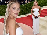 Margot Robbie arrives for the Costume Institute Benefit at The Metropolitan Museum of Art May 2, 2016 in New York. / AFP PHOTO / TIMOTHY A. CLARYTIMOTHY A. CLARY/AFP/Getty Images