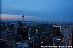 Night View - Central Park from Top of the Rock