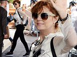 Picture Shows: Susan Sarandon  May 10, 2016\n \n American actress Susan Sarandon waves to photographers as she arrives at her hotel in Cannes, France.\n \n Worldwide Rights (NO POLAND) \n Non Exclusive\n Pictures by : FameFlynet UK © 2016\n Tel : +44 (0)20 3551 5049\n Email : info@fameflynet.uk.com
