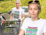 *EXCLUSIVE* Los Angeles, CA - A make up free Miley Cyrus appears to have softened up a bit as she is seen looking casual in a Teenage Muntant Ninja Turtles shirt as she gets some shopping done. The 23 year old singer was spotted NOT wearing her engagement ring while out picking up some domestic goods and flowers for her new home. Are things called off between her and Liam Hemsworth? Or perhaps she is settling into the role of home-maker with her new purchases?\n  \nAKM-GSI       May 9, 2016\nTo License These Photos, Please Contact :\nSteve Ginsburg\n(310) 505-8447\n(323) 423-9397\nsteve@akmgsi.com\nsales@akmgsi.com\nor\nMaria Buda\n(917) 242-1505\nmbuda@akmgsi.com\nginsburgspalyinc@gmail.com