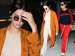 11 May 2016. Kendall Jenner and mother Kris Jenner seen arriving at Nice Airport ahead of the 69th Cannes Film Festival.  Credit: Eade/Warner/GoffPhotos.com   Ref: KGC-102/195