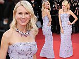 Mandatory Credit: Photo by David Fisher/REX/Shutterstock (5682155n)\nNaomi Watts\n'Cafe Society' premiere and opening ceremony, 69th Cannes Film Festival, France - 11 May 2016\n