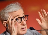 "US director Woody Allen talks on May 11, 2016 during a press conference for the film ""Cafe Society"" in Cannes ©Loic Venance (AFP)"