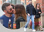 7.5.16..... The afternoon after the night before....... It looks like Coronation Streets Alison King is loved up again as she is spotted having lunch with a mystery man at Grill On The Edge in Alderley Edge on Saturday afternoon. The couple sat outside the restaurant and shared thoe occasional kiss over their meal before walking off together hand in hand.