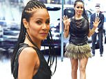 11.May.2016 - New York ñ USA\n*** STRICTLY AVAILABLE FOR UK AND GERMANY USE ONLY ***\nNew York, NY - Jada Pinkett Smith steps out in Manhattan wearing a short layered feather skirt paired with a leather tassel top and heels.\nBYLINE MUST READ : AKM-GSI-XPOSURE\n***UK CLIENTS - PICTURES CONTAINING CHILDREN PLEASE PIXELATE FACE PRIOR TO PUBLICATION ***\n*UK CLIENTS MUST CALL PRIOR TO TV OR ONLINE USAGE PLEASE TELEPHONE 0208 344 2007*\n