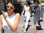 Mandatory Credit: Photo by Beretta/Sims/REX/Shutterstock (5682914f) Kendall Jenner Kendall Jenner and Kris Jennet out and about at Magnum Beach, 69th Cannes Film Festival, France - 12 May 2016