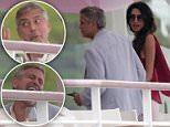 May th, 2016 - Antibes ****** Exclusive ****** George Clooney seems to have a little too abused the french wine as he enjoys the day with his wife Amal. The very glamorous couple George Clooney and his wife Amal spent the day with friends at Hotel du Cap in Antibes, France, ahead of the 69th edition of the famous Cannes International Film Festival. ****** No Web Usage before agreement ****** ******Please hide the children's faces prior to the publication****** ****** Stricly No Mobile Phone Application or Apps use without our Prior Agreement ****** Enquiries at photo@spreadpictures.com