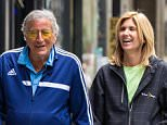 EXCLUSIVE: Tony Bennett and wife Susan Crow seen strolling hand in hand in Midtown in New York City on the way to check out The Art Students League show.  Pictured: Tony Bennett, Susan Crow Ref: SPL1276465  100516   EXCLUSIVE Picture by: Allan Bregg/Splash News  Splash News and Pictures Los Angeles: 310-821-2666 New York: 212-619-2666 London: 870-934-2666 photodesk@splashnews.com