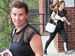 SUN'S OUT GUNS OUT....... 11.5.16.... Coleen Rooney leave the gym in Alderley Edge looking toned on Wednesday afternoon. She popped next door to the post office before heading to Wilmslow to look at bikinis.