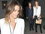10 May 2016. Rande Gerber and Cindy Crawford are seen at Craig's restaurant, LA. Credit: BG/GoffPhotos.com   Ref: KGC-300/160510RZ5  **UK, Spain, Italy, China, South Africa Sales Only**