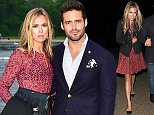 Celebrities leaving the Serpentine Lido, having attended a launch party Featuring: Spencer Matthews, Morgane Robart Where: London, United Kingdom When: 11 May 2016 Credit: Will Alexander/WENN.com
