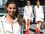 Ferne McCann arrives at Nice Airport for Cannes Film Festival