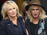 ***Not available as part of a subscription deal. Fee set at £100 before 22:00 on 11th May 2016 for use of the set before this time*** EXCLUSIVE ALLROUNDERJennifer Saunders and Joanna Lumley leave Global Radio studios in London Featuring: Joanna Lumley, Jennifer Saunders Where: London, United Kingdom When: 11 May 2016 Credit: WENN.com