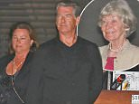 Actor Pierce Brosnan see at Nobu with his mom and wife for early birthday celebration in Los Angeles, CA.  Pictured: Pierce Brosnan Ref: SPL1280304  120516   Picture by:  Splash News  Splash News and Pictures Los Angeles: 310-821-2666 New York: 212-619-2666 London: 870-934-2666 photodesk@splashnews.com