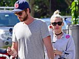 BYRON BAY, NSW - APRIL 29:  Liam Hemsworth and Miley Cyrus spotted on April 29, 2016 in Byron Bay, Australia.  (Photo by Matrix/GC Images)