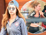 Gigi Hadid seen wearing on U.S. Olympic grey shirt and work out gear in New York City\n\nPictured: Gigi Hadid\nRef: SPL1278978  100516  \nPicture by: Frank Sullivan/Splash News\n\nSplash News and Pictures\nLos Angeles: 310-821-2666\nNew York: 212-619-2666\nLondon: 870-934-2666\nphotodesk@splashnews.com\n