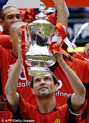 Success: Keane won seven Premier League titles and four FA Cups during his time at Old Trafford