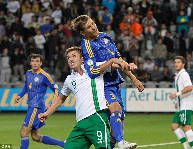 Stand-in: Kevin Doyle will captain Ireland during their game against Oman