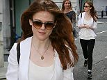 Games Of Thrones actress Rose Leslie leaving BBC Radio Two studios after promoting the new series.  Rose who is dating GOT co-star Kit Harington aka Jon Snow, was seen with a cold sore on her lip - London \n13 May 2016.\nPlease byline: Vantagenews.com