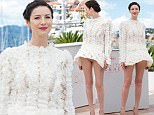 """CANNES, FRANCE - MAY 12:  Caitriona Balfe attends the """"Money Monster"""" Photocall at the annual 69th Cannes Film Festival at Palais des Festivals on May 12, 2016 in Cannes, France.  (Photo by Samir Hussein/WireImage)"""
