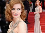 """CANNES, FRANCE - MAY 12:  Jessica Chastain attends the """"Money Monster"""" premiere during the 69th annual Cannes Film Festival at the Palais des Festivals on May 12, 2016 in Cannes, France.  (Photo by Clemens Bilan/Getty Images)"""