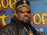 FILE - This Feb. 28, 2006 file photo shows hip hop DJ pioneer Afrika Bambaataa speaking at a news conference in New York. Bambaataa is speaking out to deny accusations from men who claim he sexually abused them as teenagers at the peak of his music career in the 1980s. Two men have publicly come forward in recent weeks to accuse the rapper, and three others have made allegations anonymously in news reports. (AP Photo/Henny Ray Abrams, file)