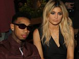 NEW YORK, NY - SEPTEMBER 13:  Recording artist Tyga and Kylie Jenner attend the Opening Ceremony Fashion Show during Spring 2016 New York Fashion Weekon September 13, 2015 in New York City.  (Photo by Bennett Raglin/WireImage)