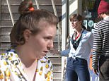 EXCLUSIVE:  The crew of the hit series Girls take over small town to film episode for the final season.  Allison Williams spotted filming a scene where she is arguing and then kissing with on screen love interest Ebon Moss-Bachrach.  Lena Dunham directs the scene.\n Please byline:TheImageDirect.com\n