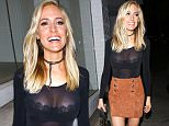 10 May 2016 - West Hollywood, CA  - USA\n**STRICTLY AVAILABLE FOR UK AND GERMANY USE ONLY**\nKristin Cavallari was in a playful mood as she joined friends for dinner at Craig's. The mother-of-three looked amazing in a sheer black bodysuit, with a suede skirt and lace up heels.\nBYLINE MUST READ : AKM-GSI-XPOSURE\n***UK CLIENTS - PICTURES CONTAINING CHILDREN PLEASE PIXELATE FACE PRIOR TO PUBLICATION ***\n*UK CLIENTS MUST CALL PRIOR TO TV OR ONLINE USAGE PLEASE TELEPHONE 0208 344 2007*\n