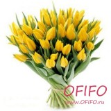 Букет желтых тюльпанов №62