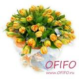 Букет желтых тюльпанов №64