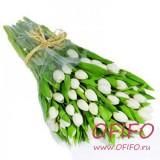 Букет белых тюльпанов №86