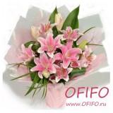 Букет розовых лилий №49