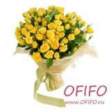 Букет из 75 желтой розы №147